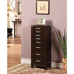 Nathan Direct St. Ives 8 Drawer Jewelry Armoire with 2 Side