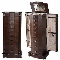 """Giantex Jewelry Armoire 40"""" Chest Cabinet Large Standing Hea"""