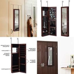 Giantex Jewelry Armoire Cabinet Door Wall Mount With Mirrorr
