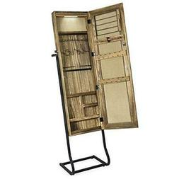 Jewelry Armoire Cabinet, Solid Wood Standing Jewelry carboni