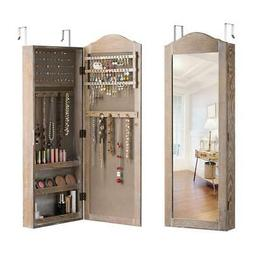 Jewelry Armoire Cabinet Wall/Door Mounted With Mirror,Box,Ac