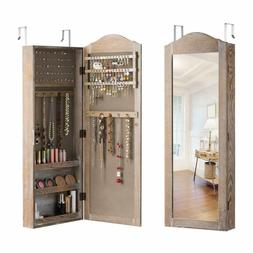 Giantex Jewelry Armoire Cabinet Wall/Door Mounted With Mirro