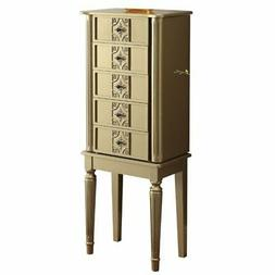 Bowery Hill Jewelry Armoire in Gold