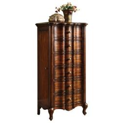Bowery Hill Jewelry Armoire in Medium Wood and Mahogany