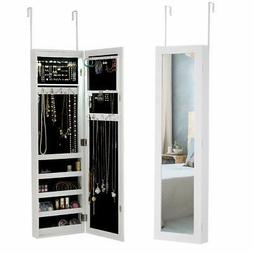 Giantex Jewelry Cabinet Armoire Door Wall Mounted with 12 Au