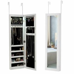 Giantex Jewelry Cabinet Armoire Door Wall Mounted, with 12 A