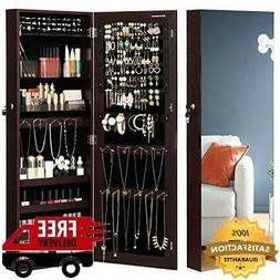 jewelry cabinet armoire lockable wall mounted storage