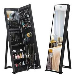 Jewelry Cabinet Armoire Standing Wall Organizer with Full Le