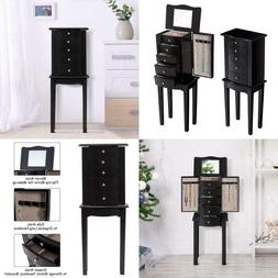Giantex Jewelry Chest Armoire Cabinet Standing With Mirror,