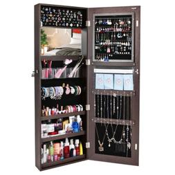 Jewelry Mirror Armoire Organizer Wall Mounted Dressing Mirro
