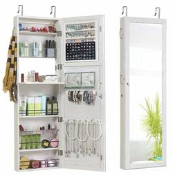 Jewelry Mirror Armoire Wall Mount Over The Door Cabinet Stor