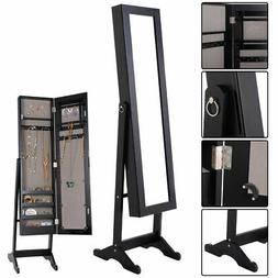 Jewelry Mirrored Cabinet Armoire Organizer Storage Box w/ St