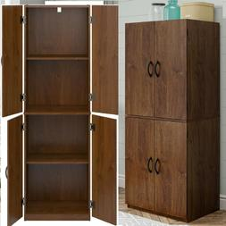 Kitchen Storage Pantry Cabinet Tall Wood Organizer Shelves W