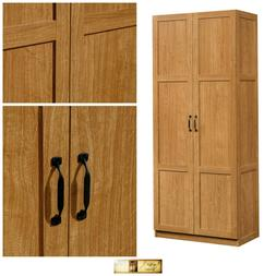 Kitchen Storage Pantry Cabinet Wood Organizer Adjustable She
