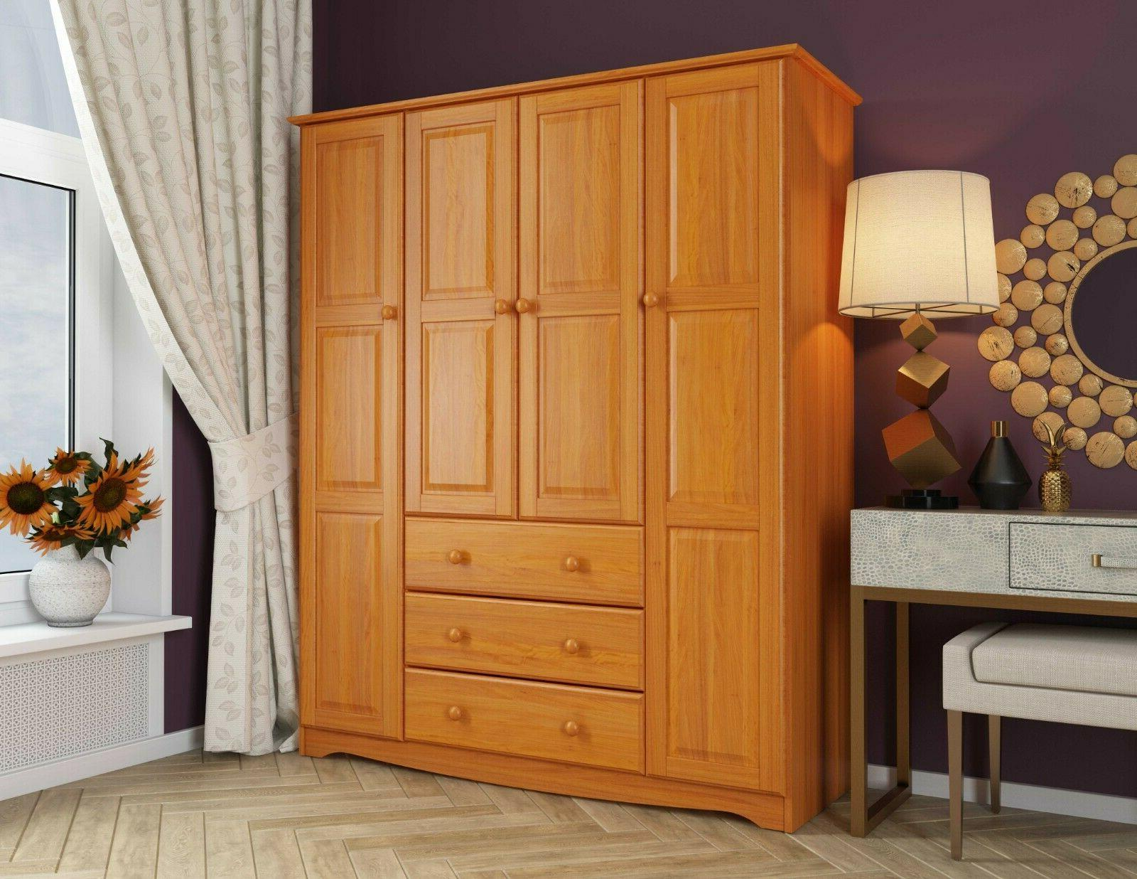 100% Family Wardrobe/Armoire/Closed, Colors. Shelves