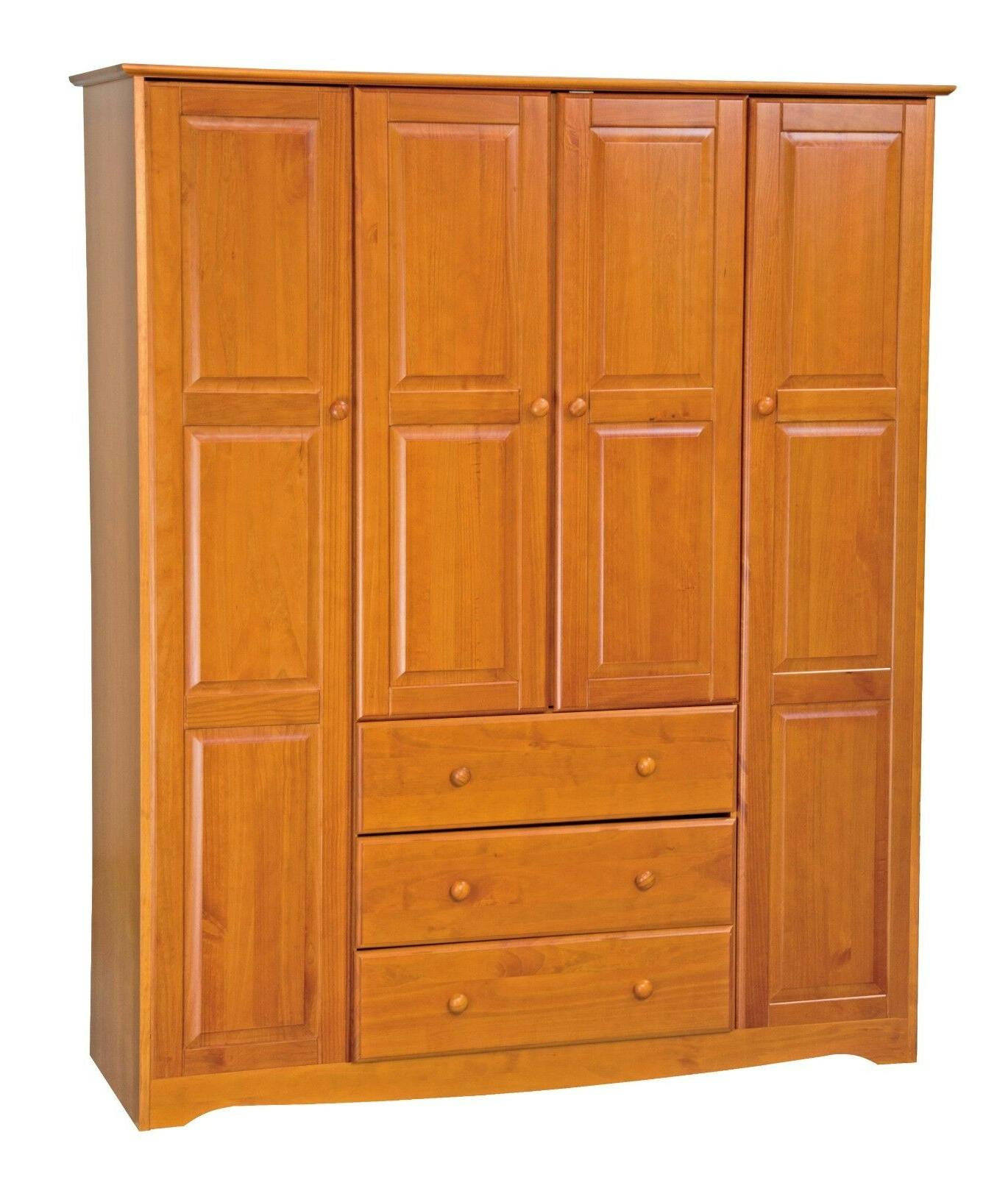 100% Wood Wardrobe/Armoire/Closet 5