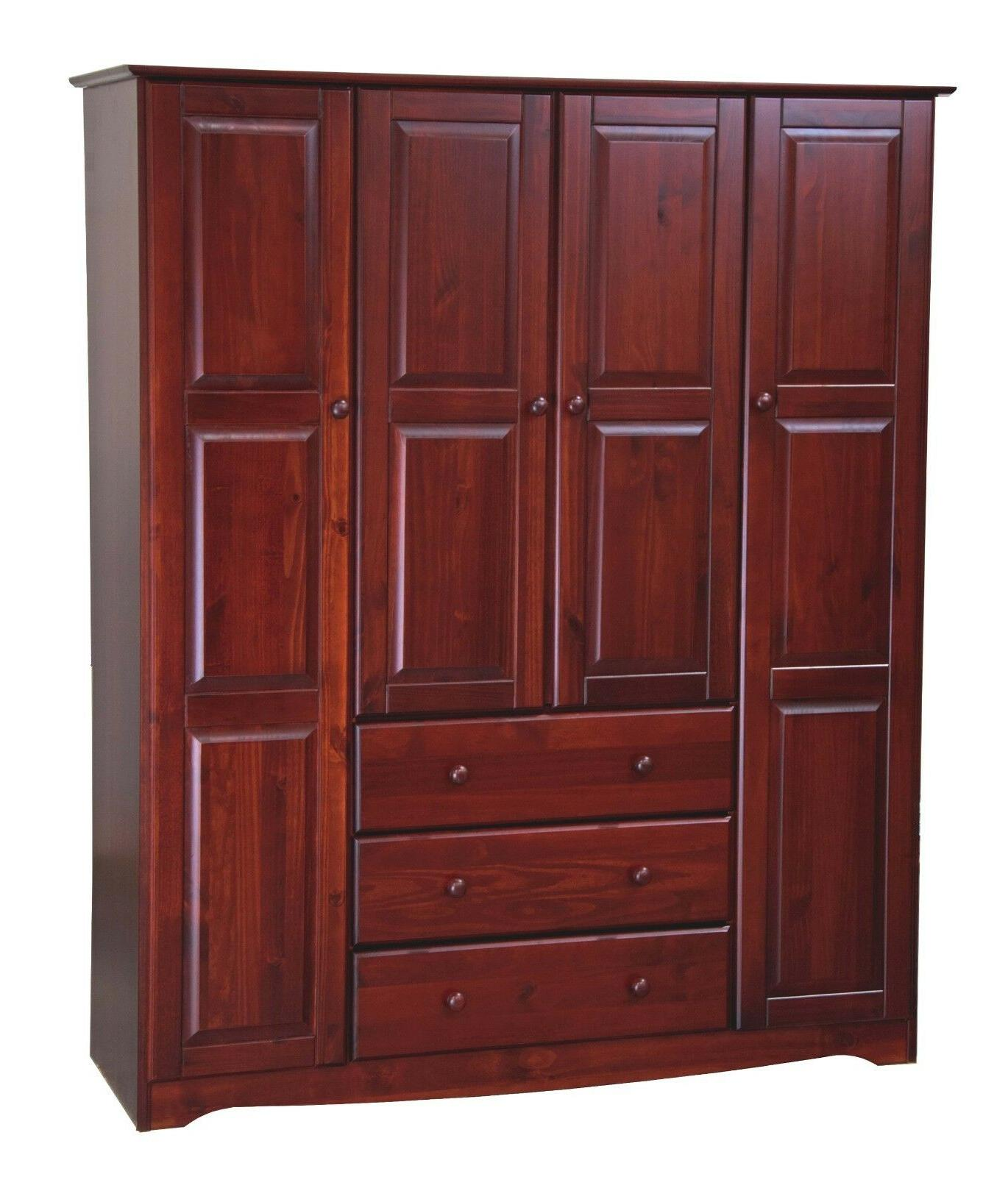 100% Solid Wood Wardrobe/Armoire/Closet by 5