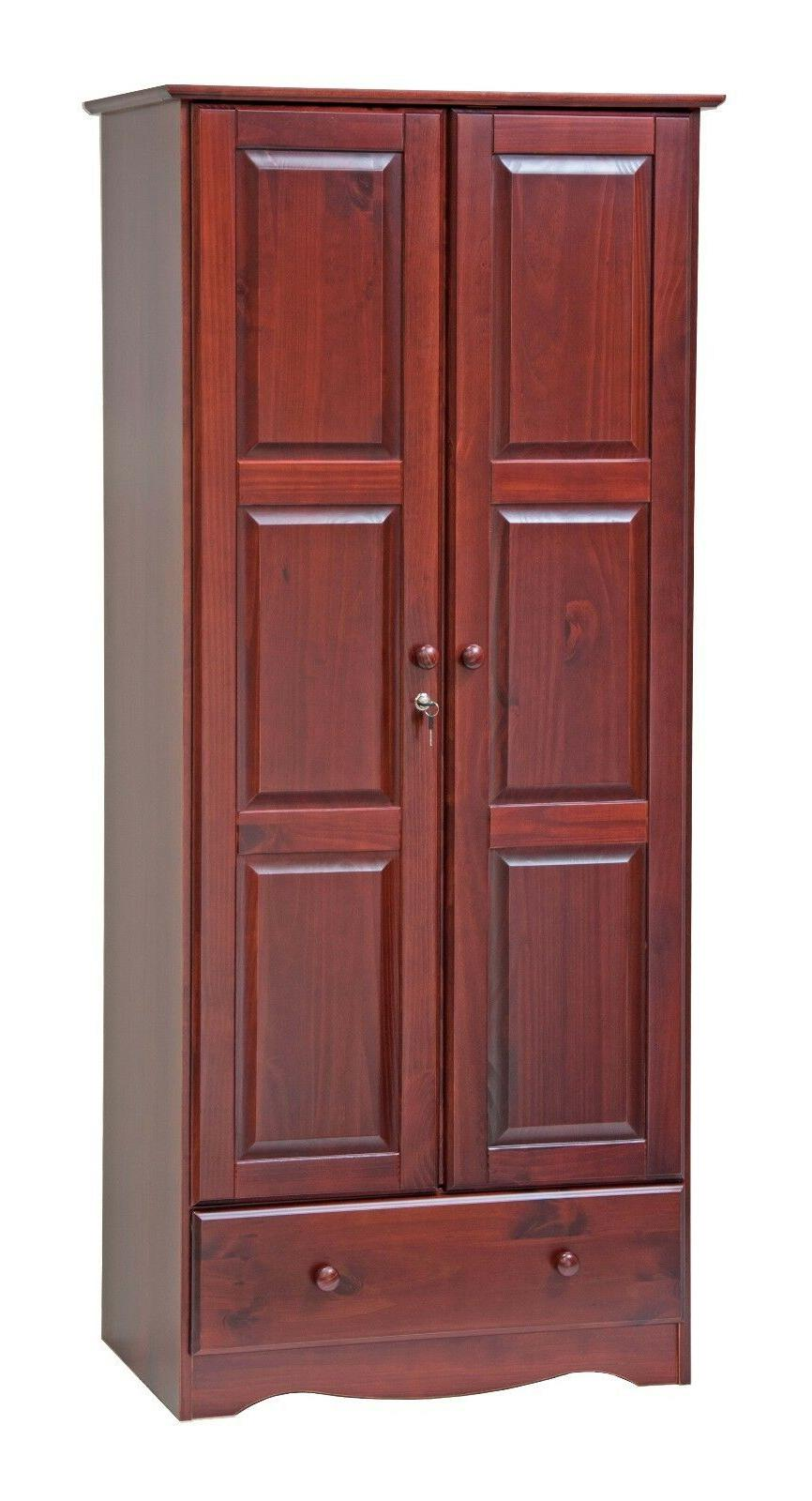 100% Solid Wood Wardrobe/Armoire/Closet Palace 3 Colors