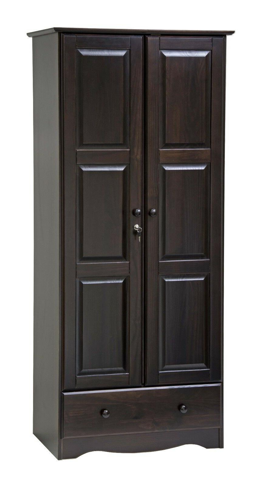 100% Solid Wood Flexible Wardrobe/Armoire/Closet by Palace Imports, 3