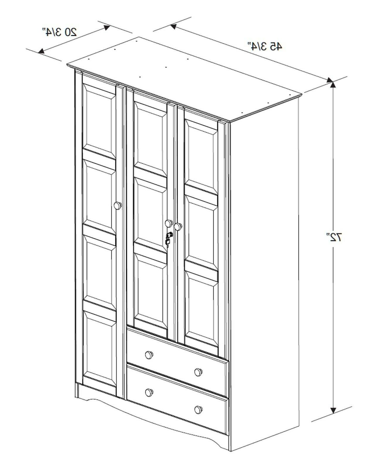 100% Solid Wood Grand Wardrobe/Armoire/Closet by 5