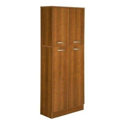 South Shore 10102 Axess 4-Door Storage Pantry Morgan Cherry