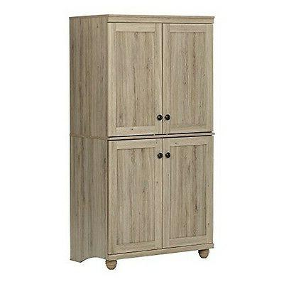 South Shore 10316 Hopedale 4-Door Storage Armoire Rustic Oak