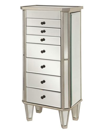 233 314 mirrored jewelry armoire with silver