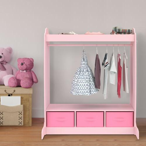 3 armoire fabric storages dress up w