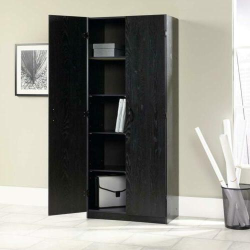 "Sauder L: x 16.02"" 71.50"" Ebony finish"