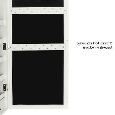 """47"""" Lockable Mirrored Jewelry Armoire"""