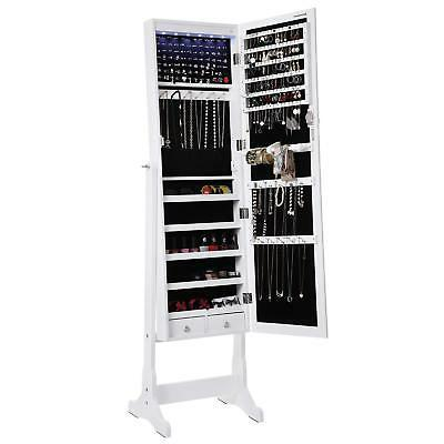 led jewelry cabinet lockable standing jewelry armoire