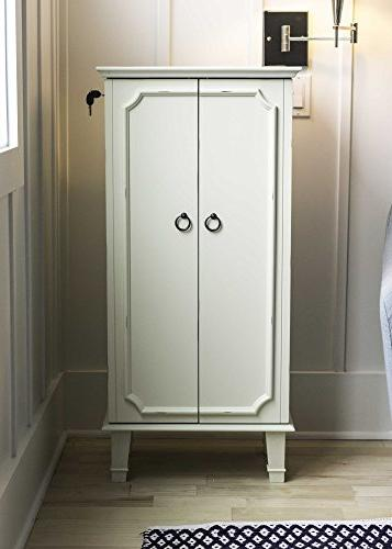 Hives Charlize Fully Locking Armoire, White