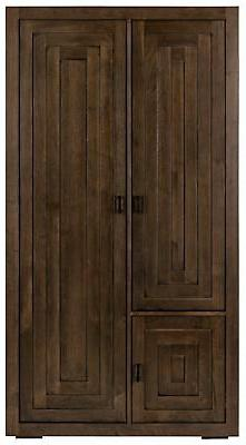 """80"""" T Belfast Hutch Armoire Solid Handcrafted Walnut Three D"""