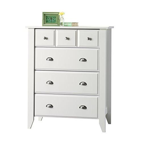 Sauder 411197 Dresser Shoal Creek 4-Drawer, White