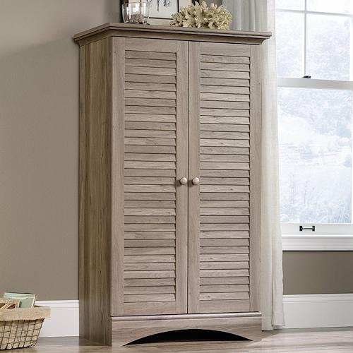 "Sauder 416825 Harbor View Storage Cabinet L: 35.43"" x W: 16."