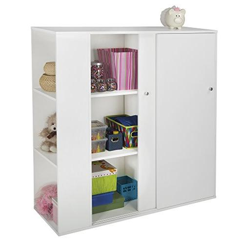 South Storage Cabinet with Sliding - White