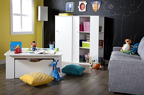 South Shore Kids Storage Cabinet with - Organizer, Pure White
