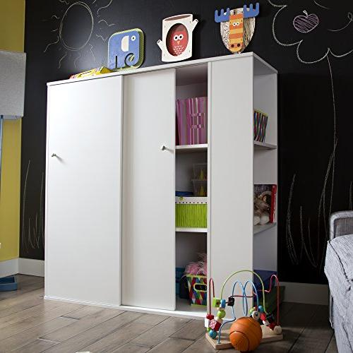 South Cabinet with Sliding - Organizer, White