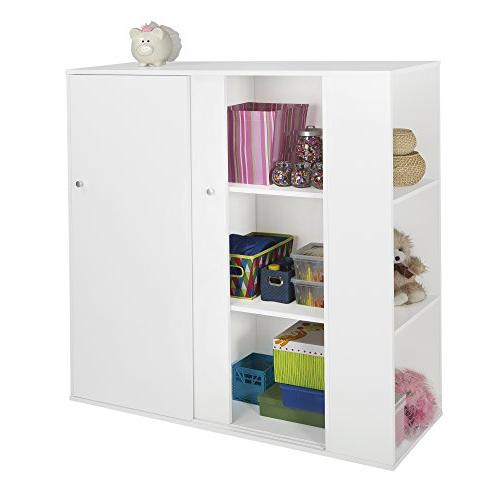 South Shore Kids Storage Cabinet with Sliding Doors - Toy Or