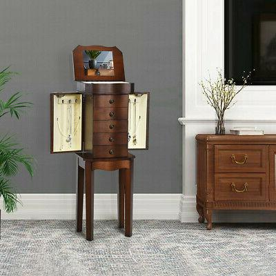 Armoire Storage Cabinet with 5 Mirror