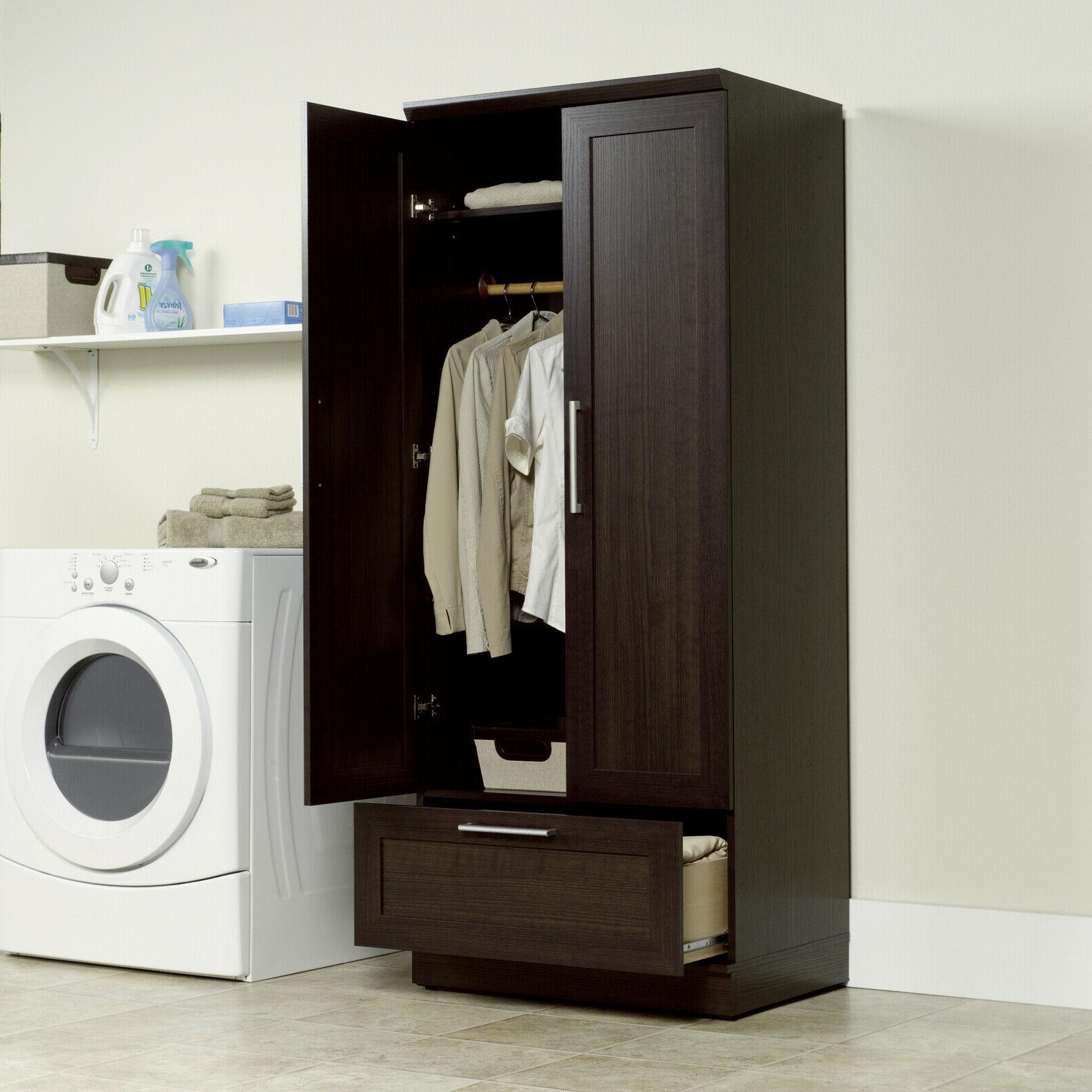 Armoire Cabinet Storage Closet Brown