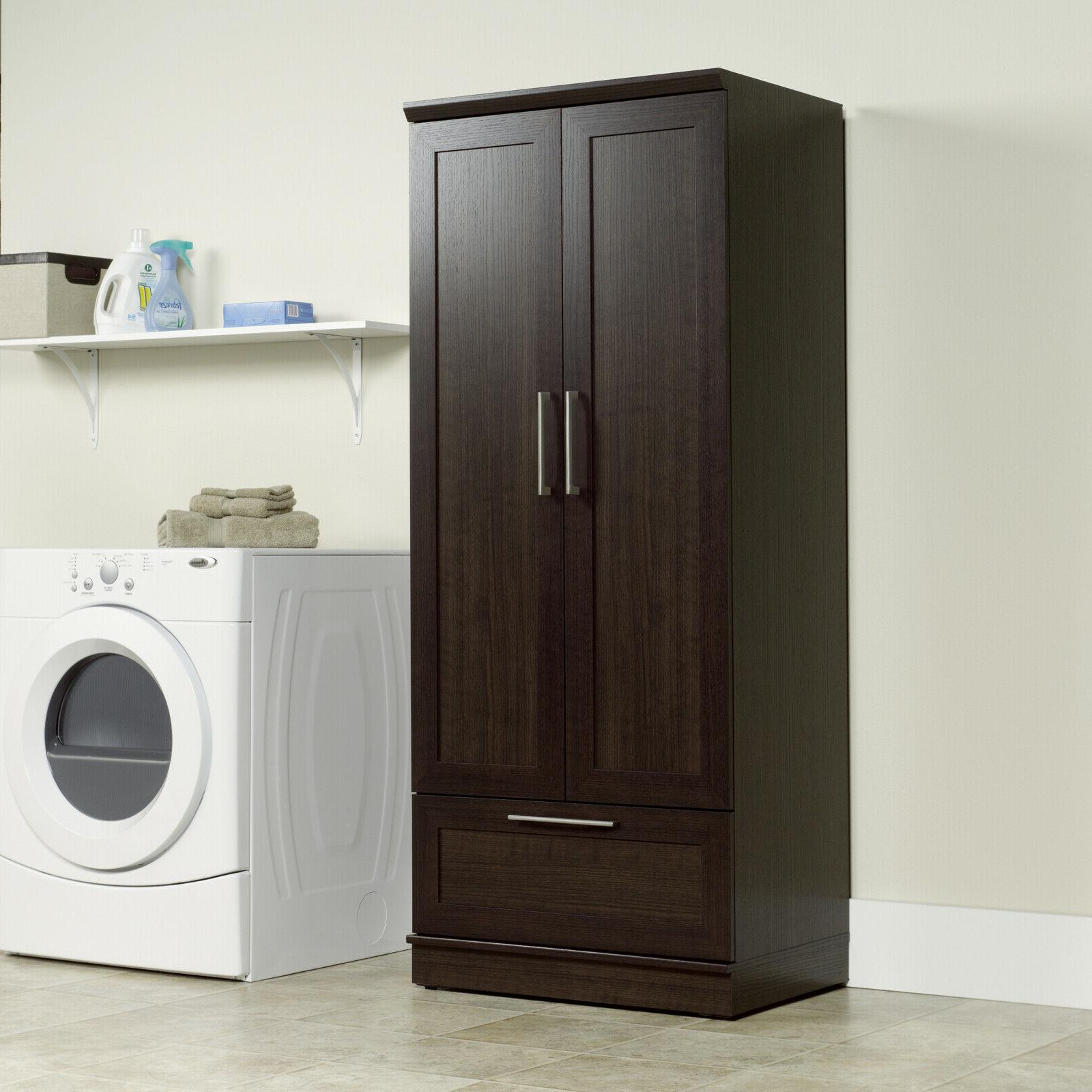 Armoire Wardrobe Cabinet Closet Brown Oak