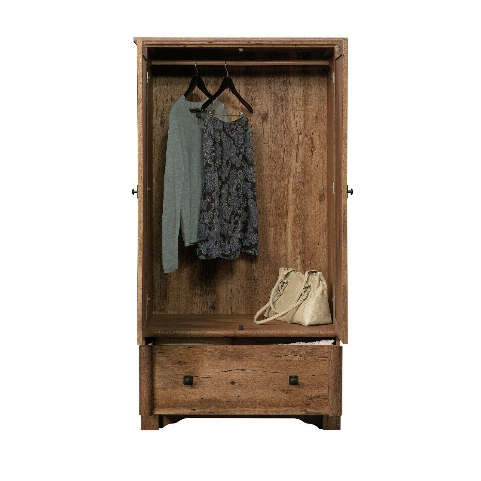 Armoire Wardrobe Storage Vintage Rod