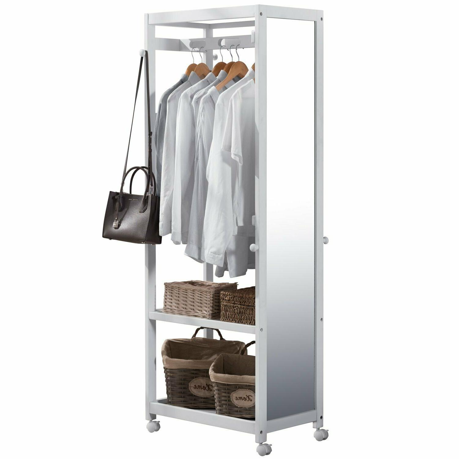 armoire wooden closet wardrobe with full length
