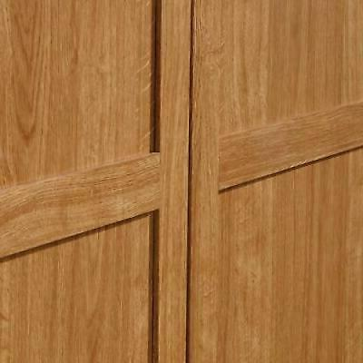 Armoire Wooden Wardrobe Storage Cabinet in Oak Finish