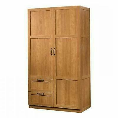 Armoire Wooden Wardrobe Cabinet in Oak