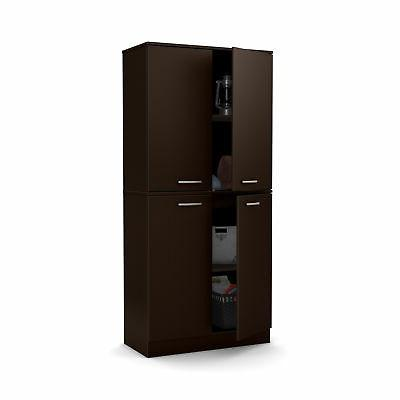 South Shore Axess 4-Door Armoire, Chocolate New