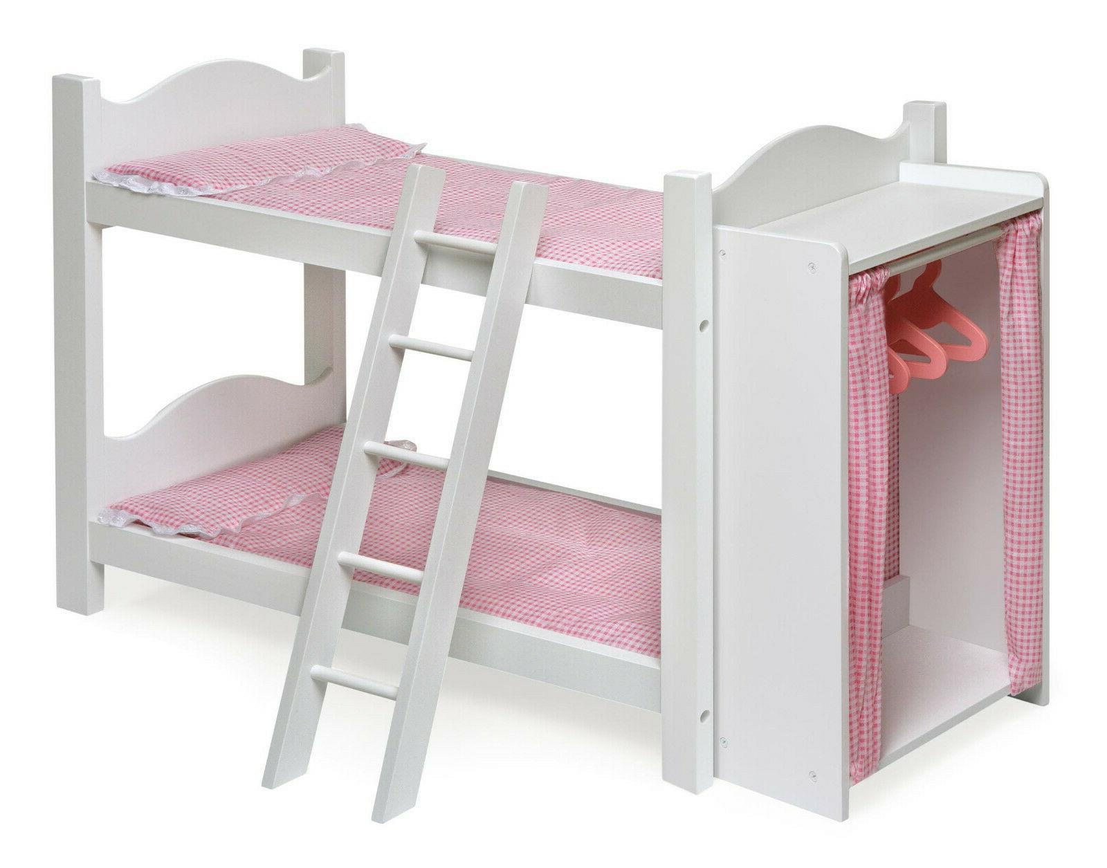 baby doll bunk bed ladder armoire white
