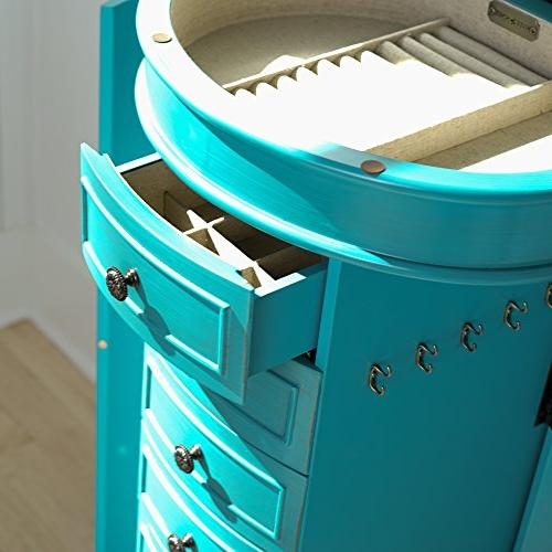 Hives and Jewelry Armoire, Turquoise