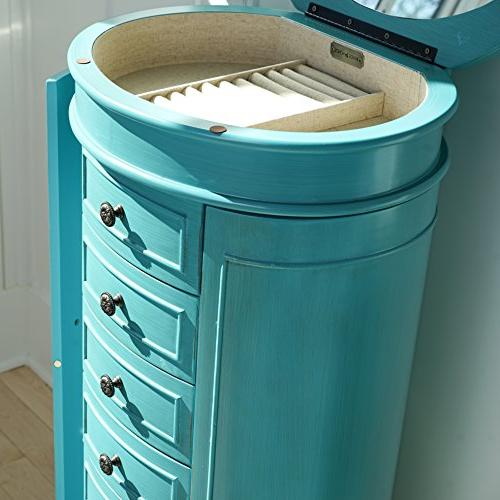 Jewelry Armoire, Turquoise